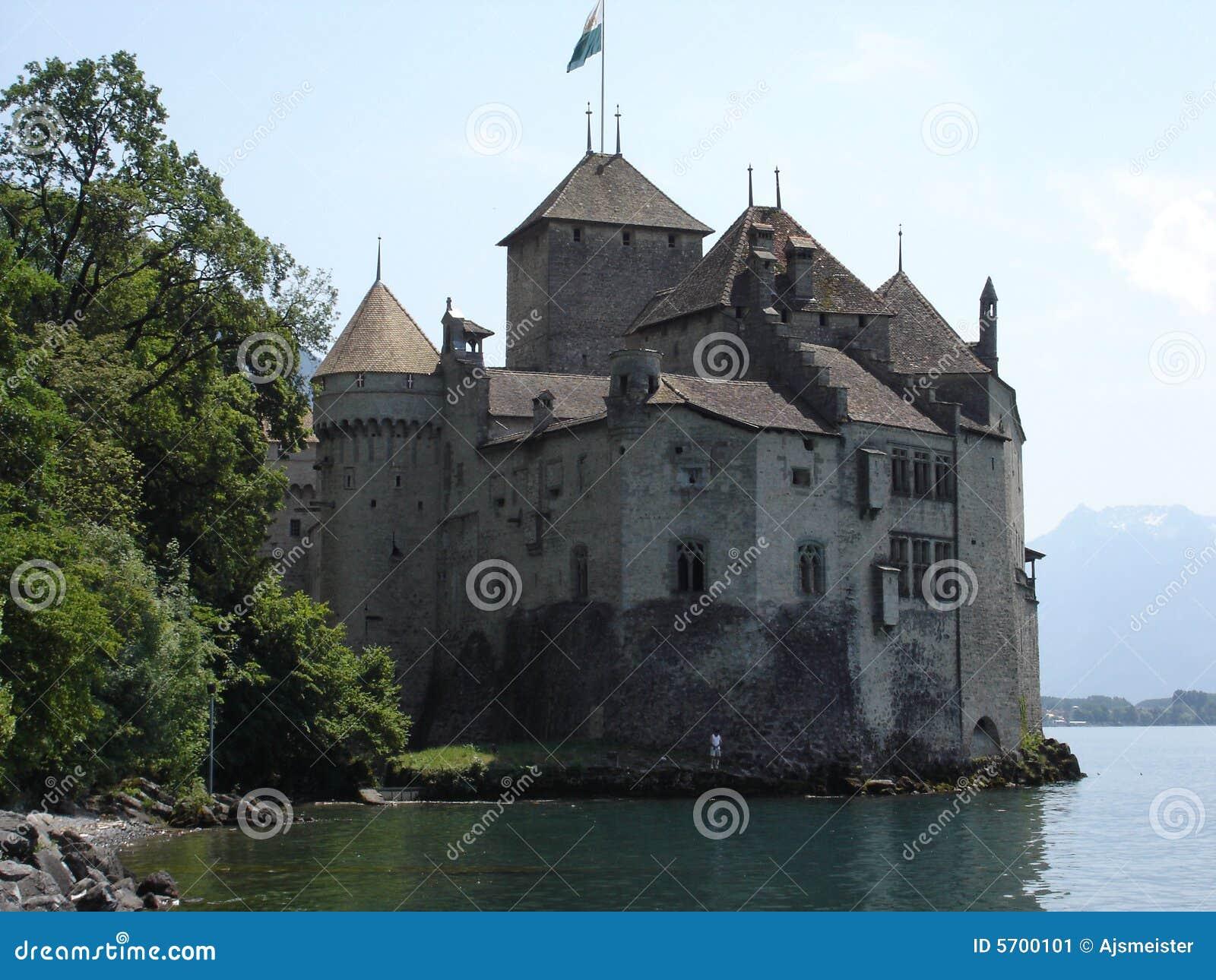 Castle of Chillon at Montreau, Switzerland