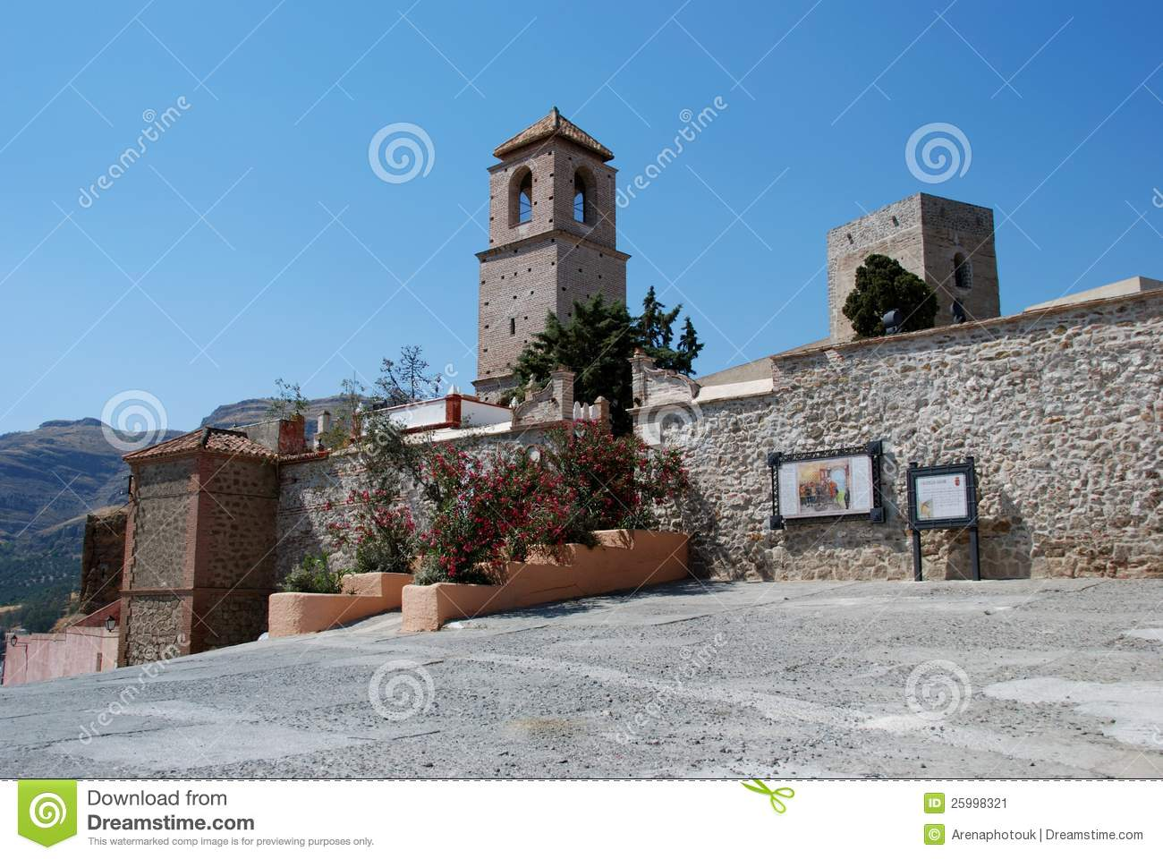 Alora Spain  City pictures : Castle And Church, Alora, Spain. Stock Image Image: 25998321