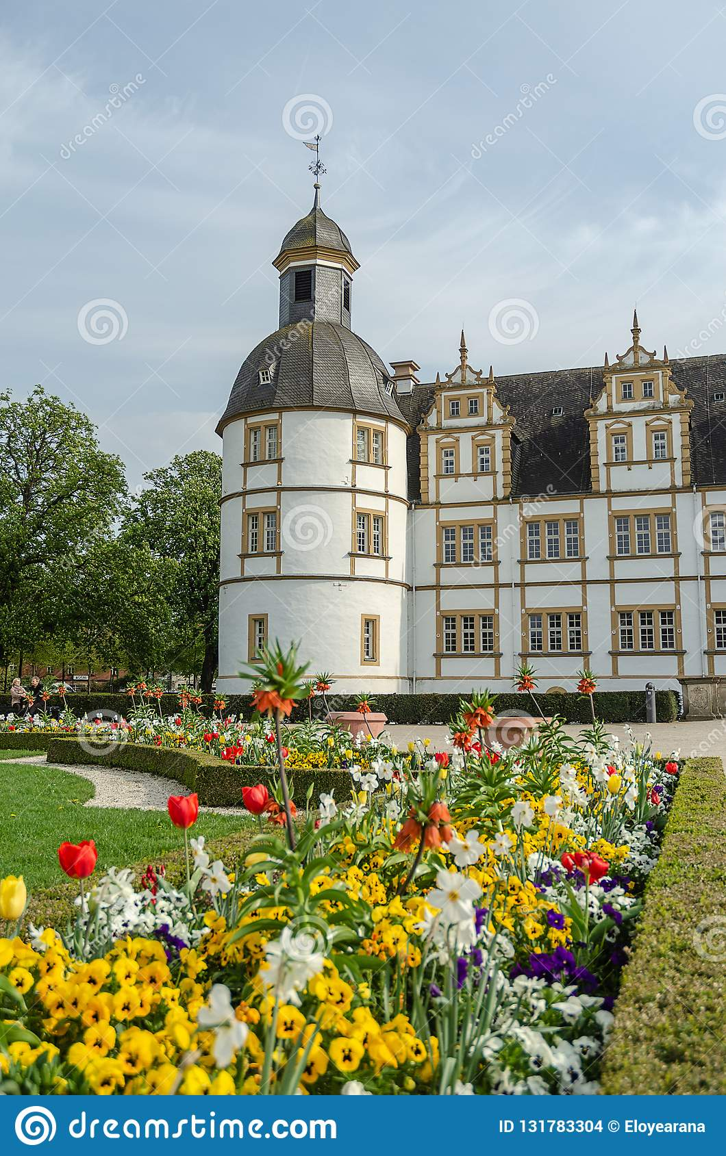 Paderborn, with full of flowers