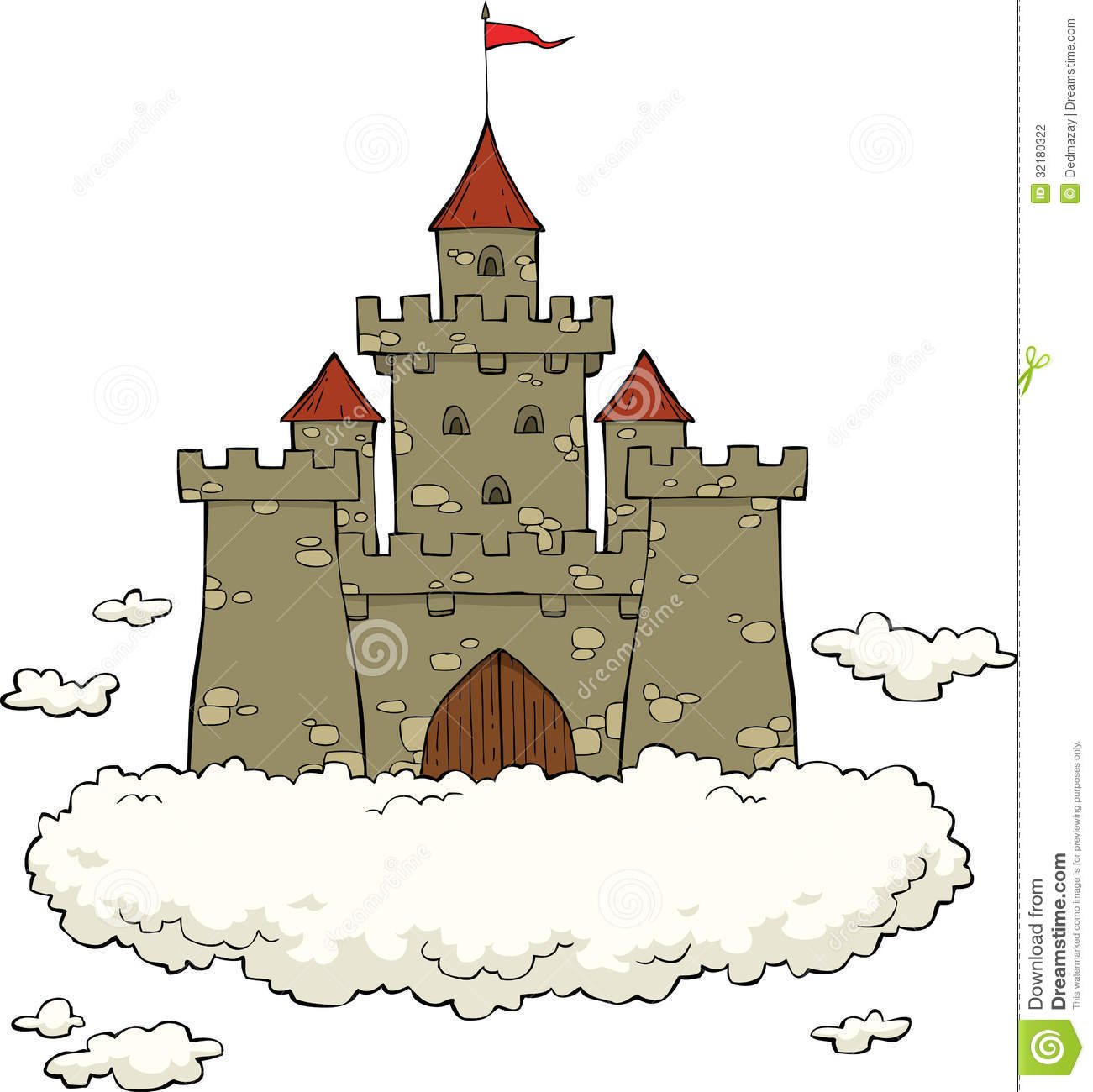 castle on a cloud stock photography image 32180322