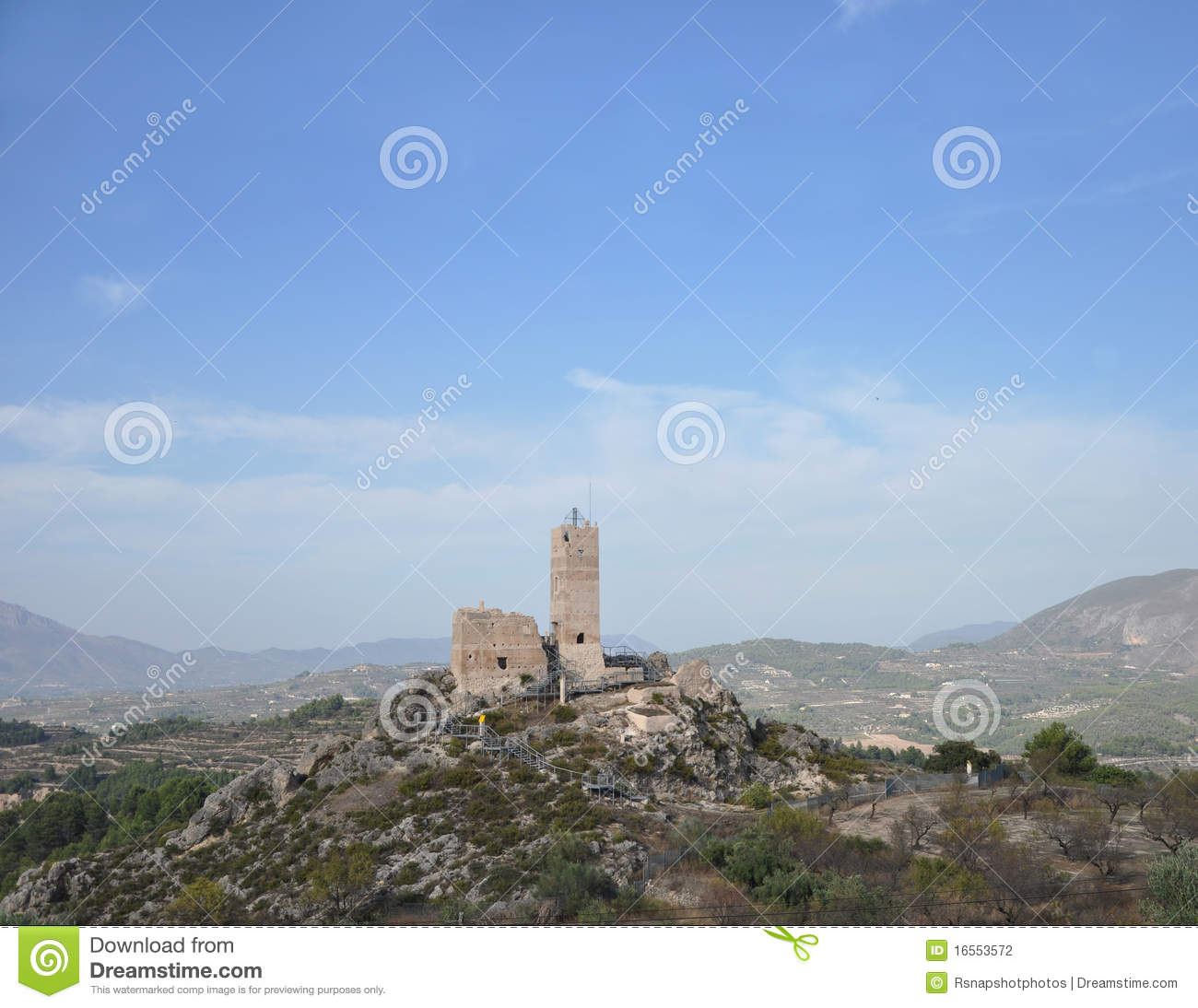 Castle cocentaina in spain stock photography image 16553572 - Cocentaina espana ...