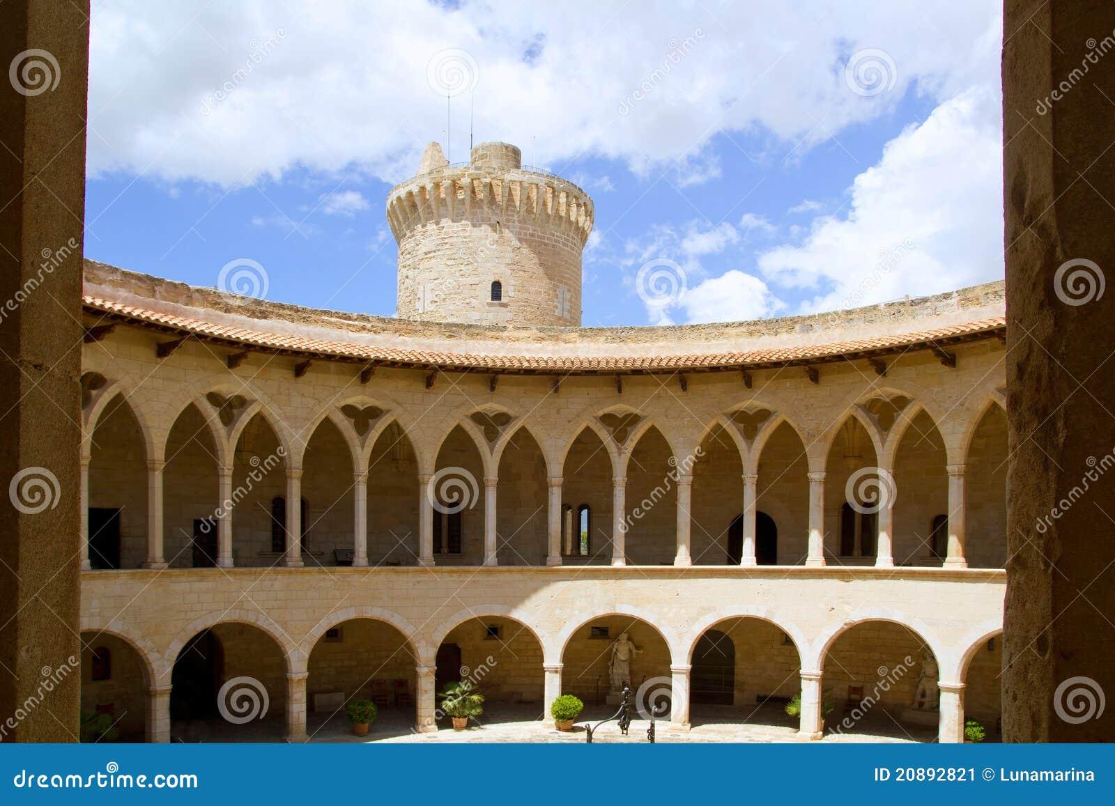 Castle de Bellver in Majorca at Palma of Mallorca