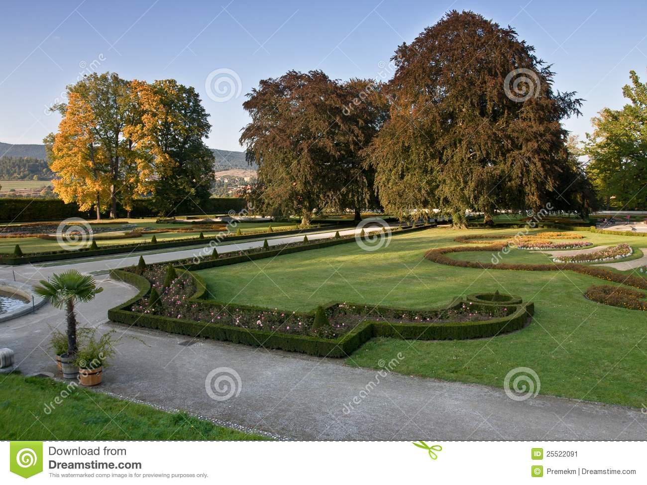 Castle Gardens In Cesky Krumlov, Czech Republic Stock Image - Image ...