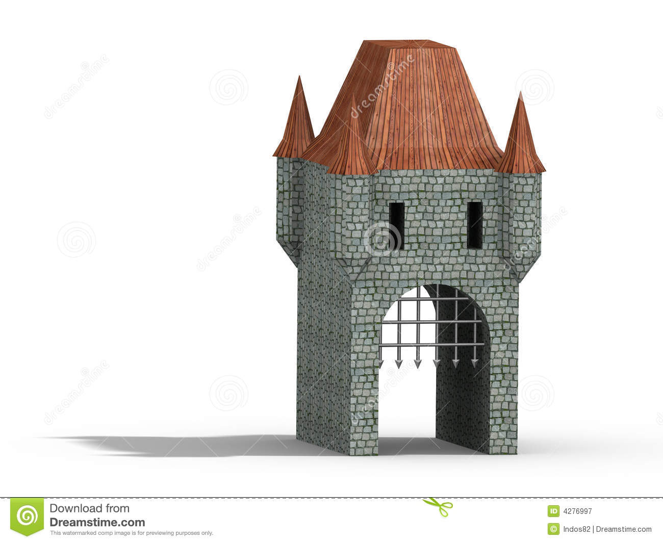 Castle Gate Royalty Free Stock Photography Image 4276997