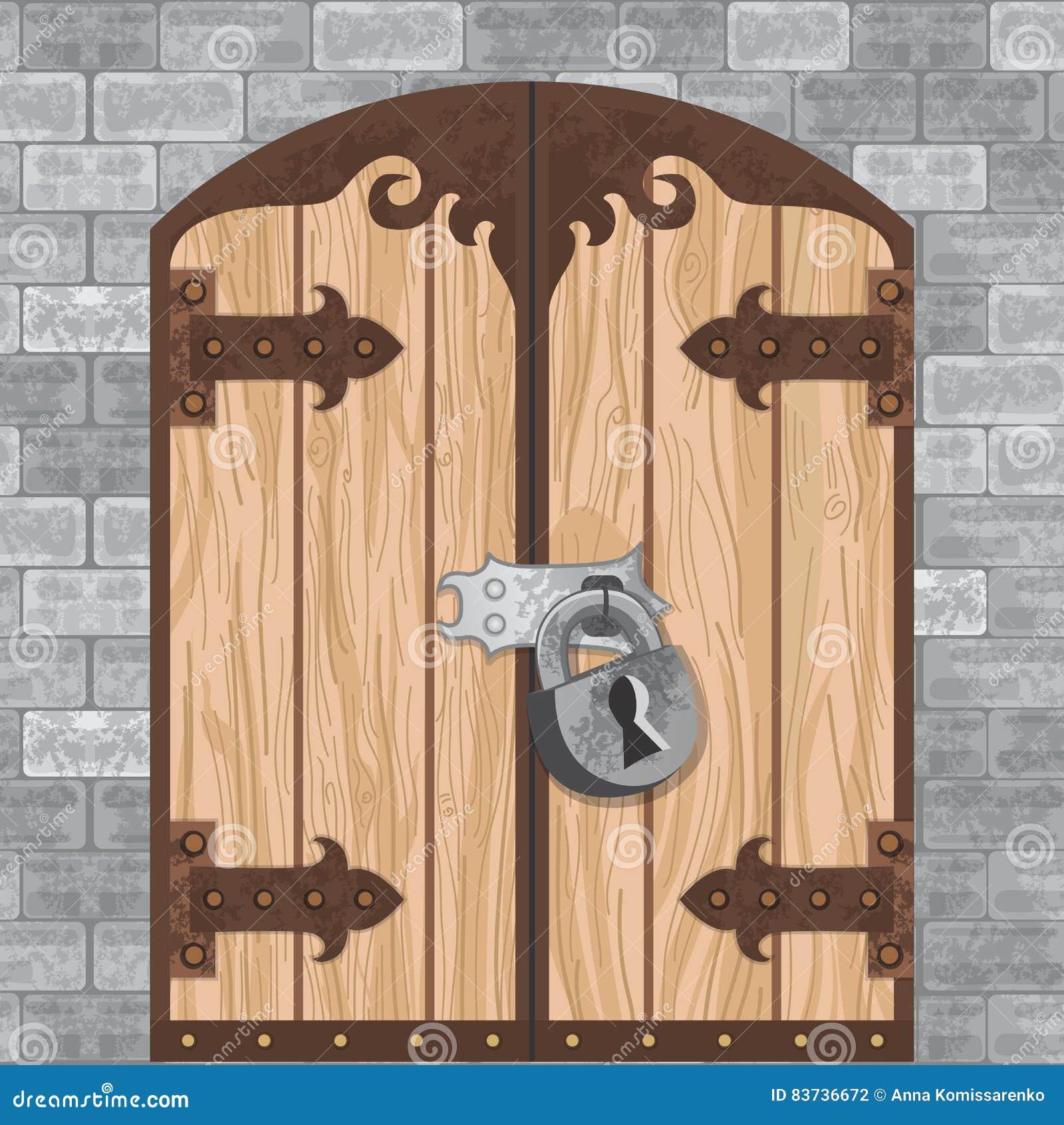 Old wooden door clipart - Castle Gate Vector Image Number 5 Of Castle Doors Clipart