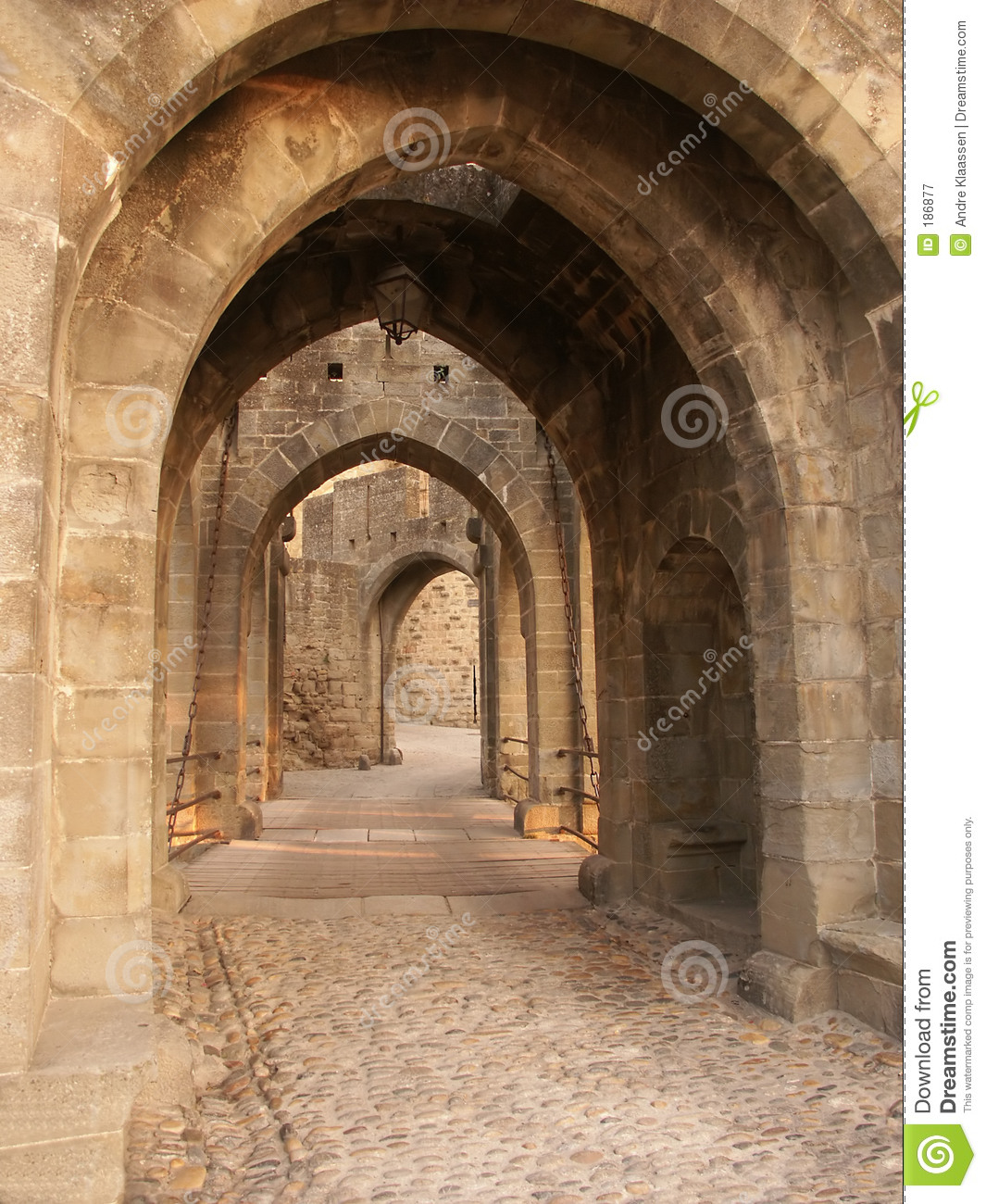 Castle Gateway Stock Image Image Of French Door
