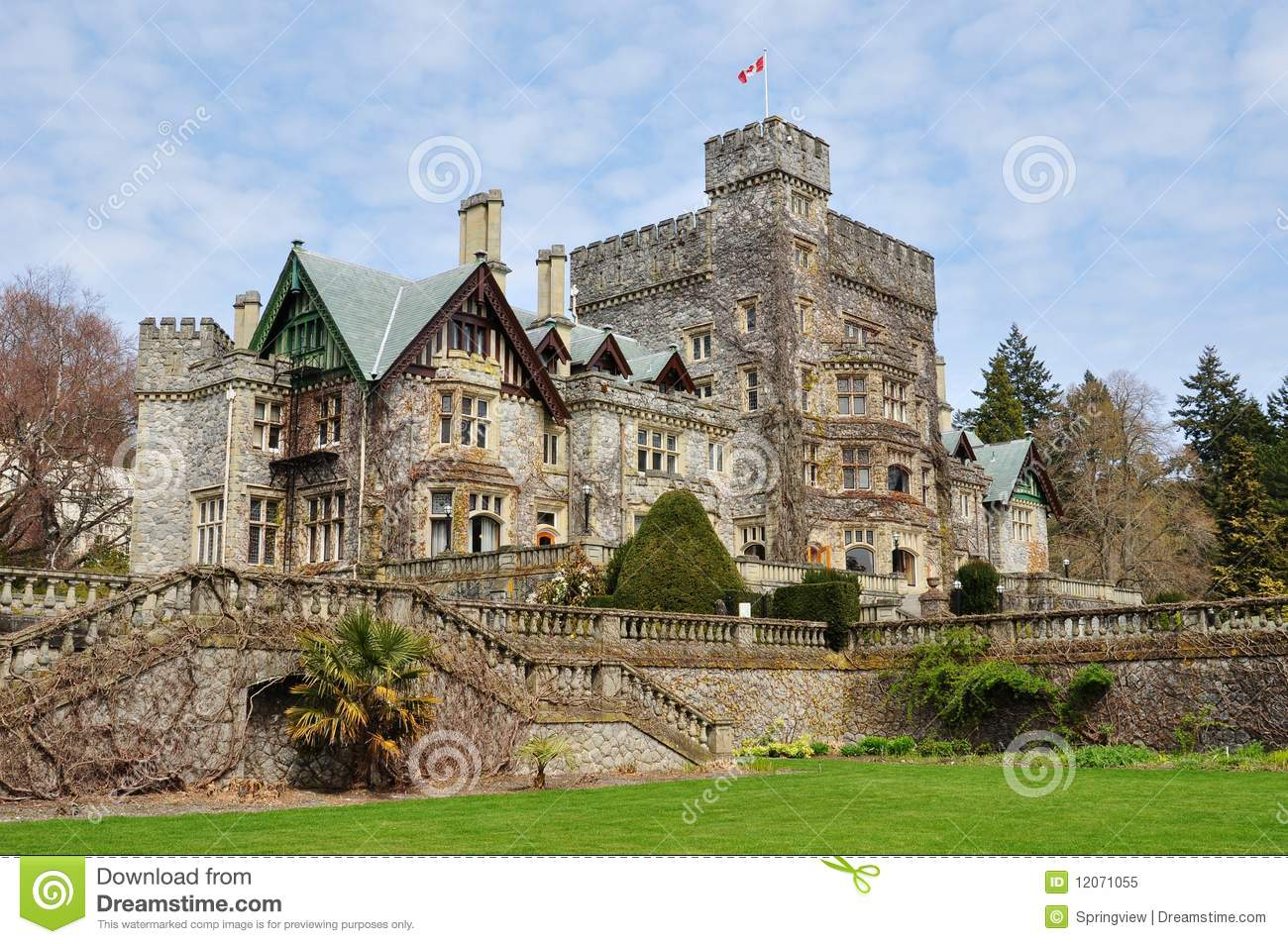 Castle In Hatley Park Royalty Free Stock Photo - Image ...