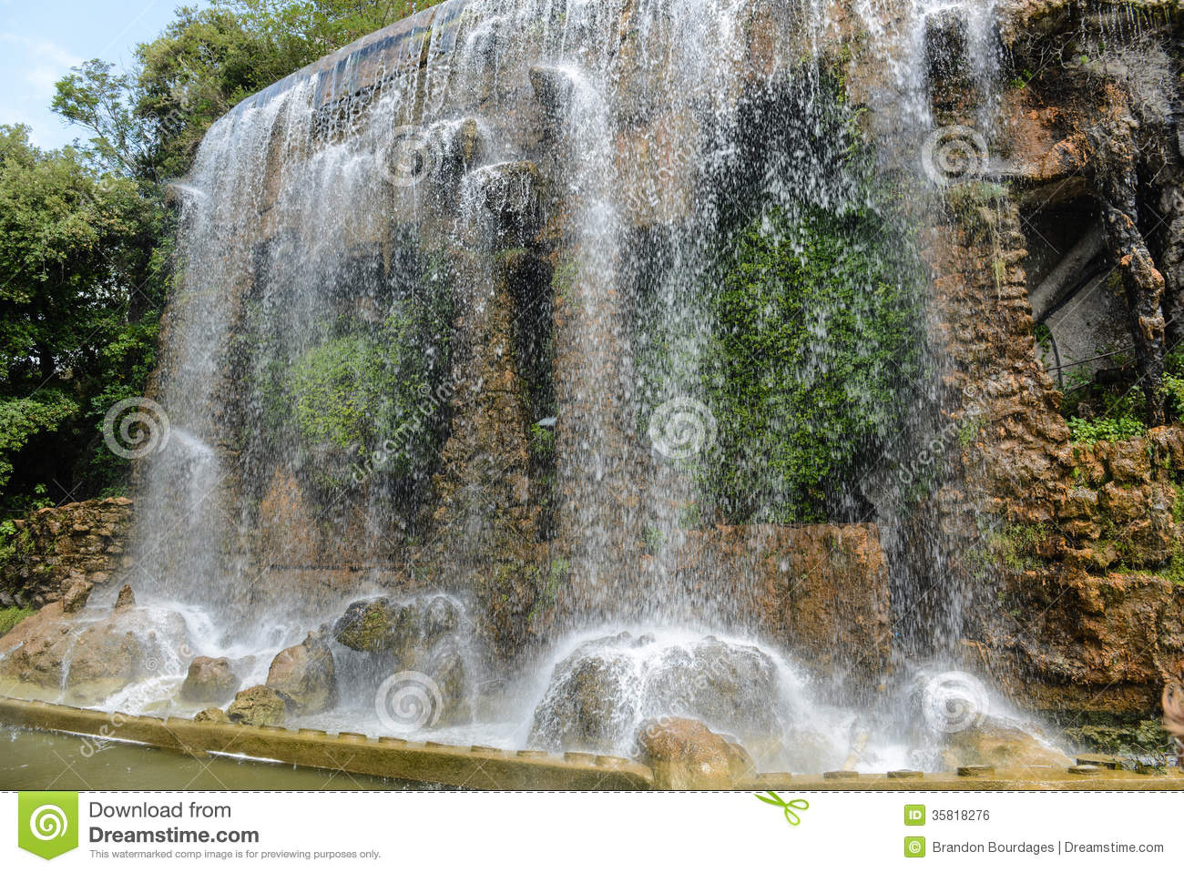 Castle Hill Waterfall Stock Photo. Image Of Riviera