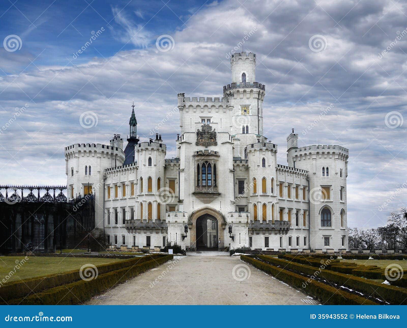 Castle Hluboka Landmark Fairytale Exterior Stock ...