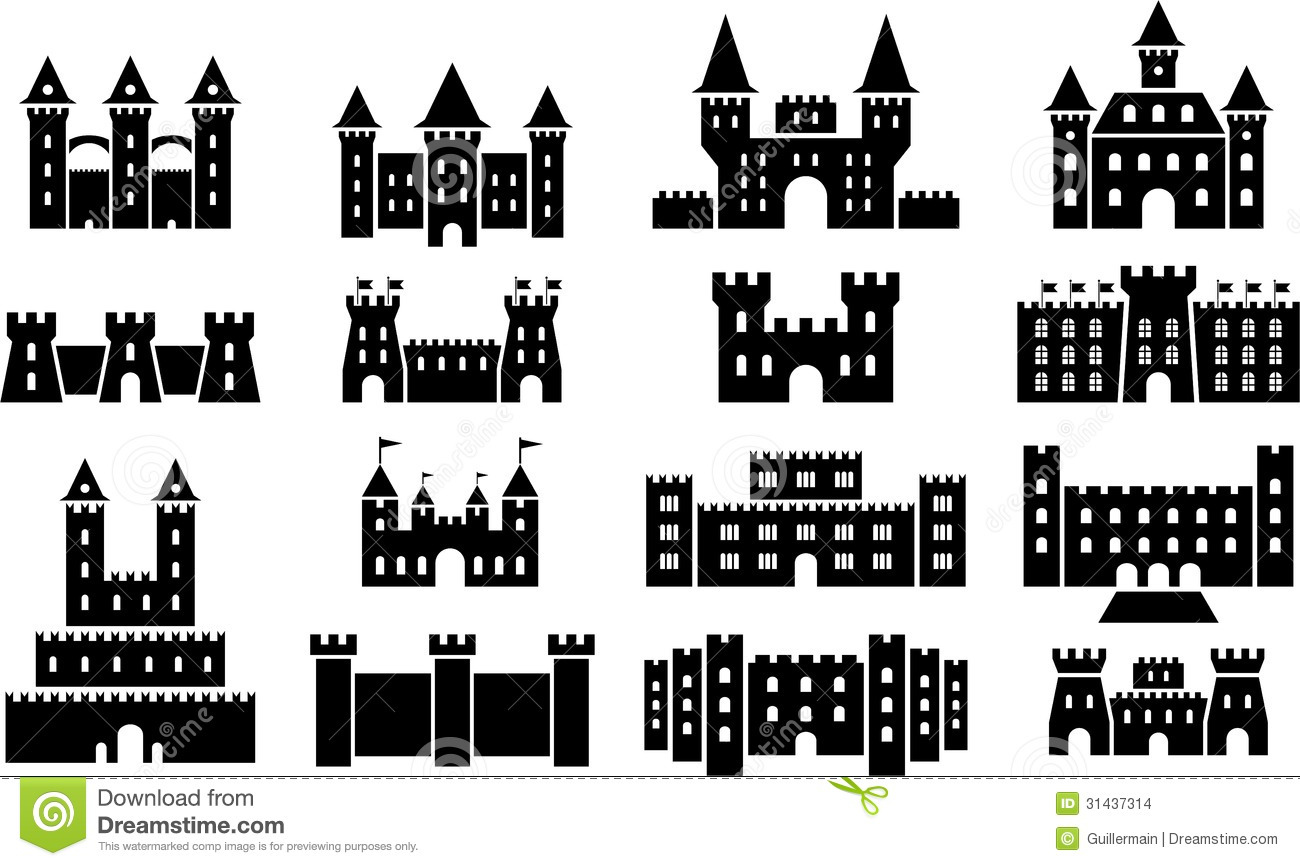 Castle icons stock vector illustration of fantasy landmark 31437314 royalty free stock photo biocorpaavc Image collections