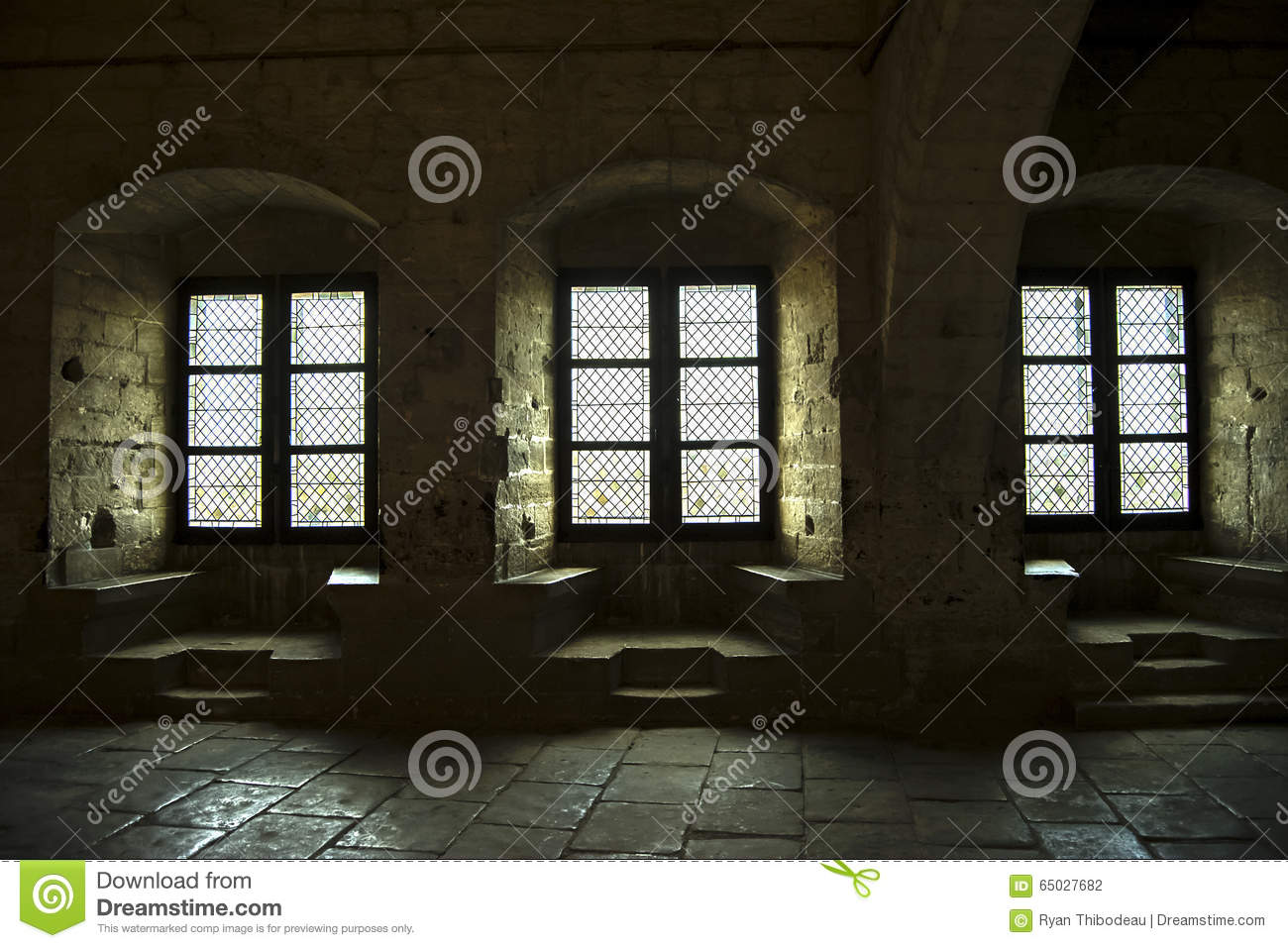 Castle Interior Windows Stock Photo Image Of Color France