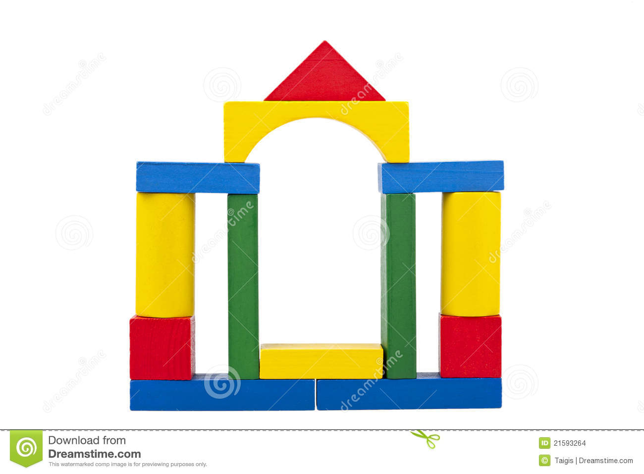 Castle Made From Wooden Toy Blocks Stock Images - Image: 21593264