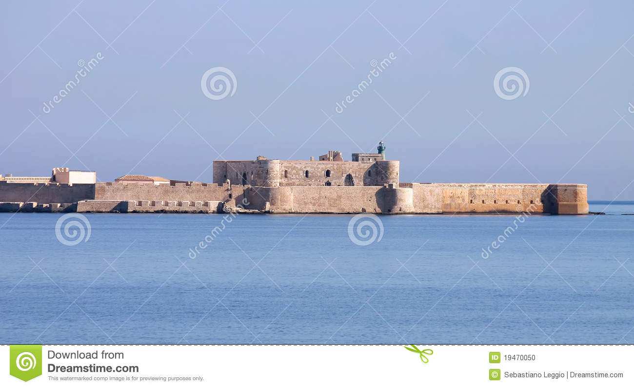 Castle Mania >> Castle Maniace In Siracusa - Sicily Stock Photo - Image: 19470050