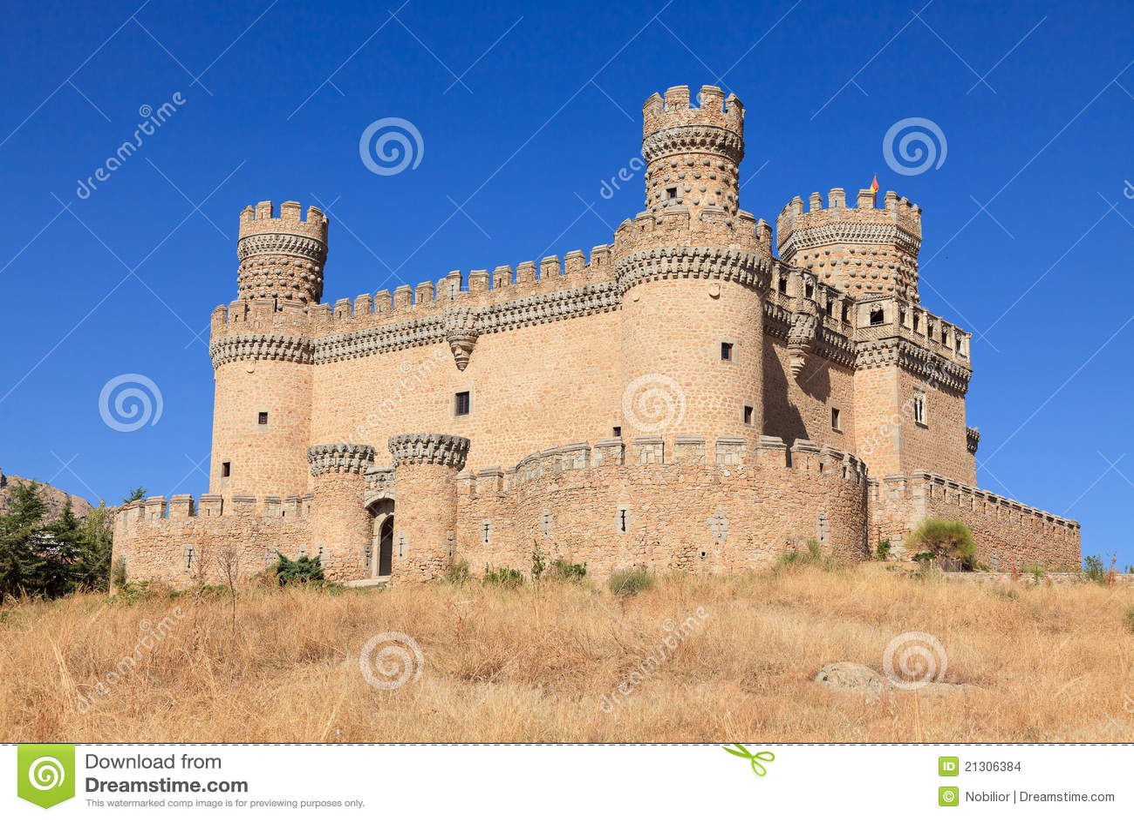 Castle Manzanares El Real Stock Images - Image: 21306384