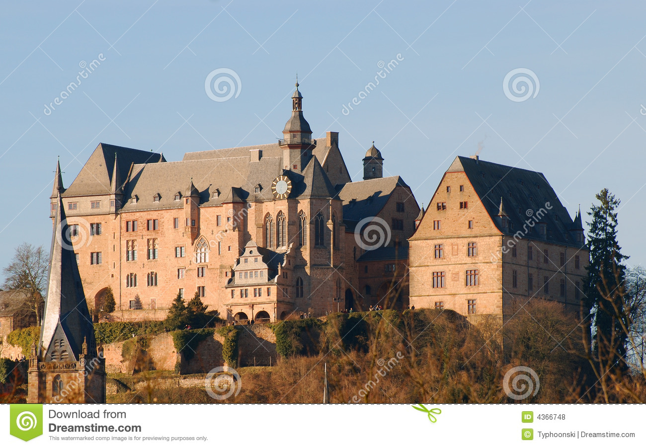 Castle In Marburg Germany Stock Photo Image Of Turret