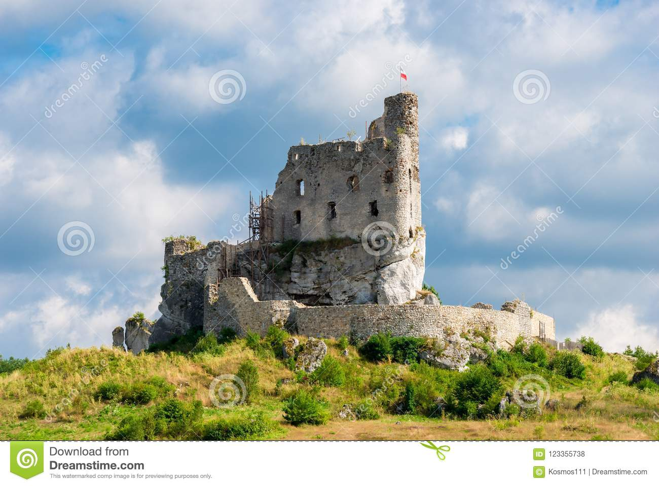 Castle In Mirow Destroyed On A Sunny Day