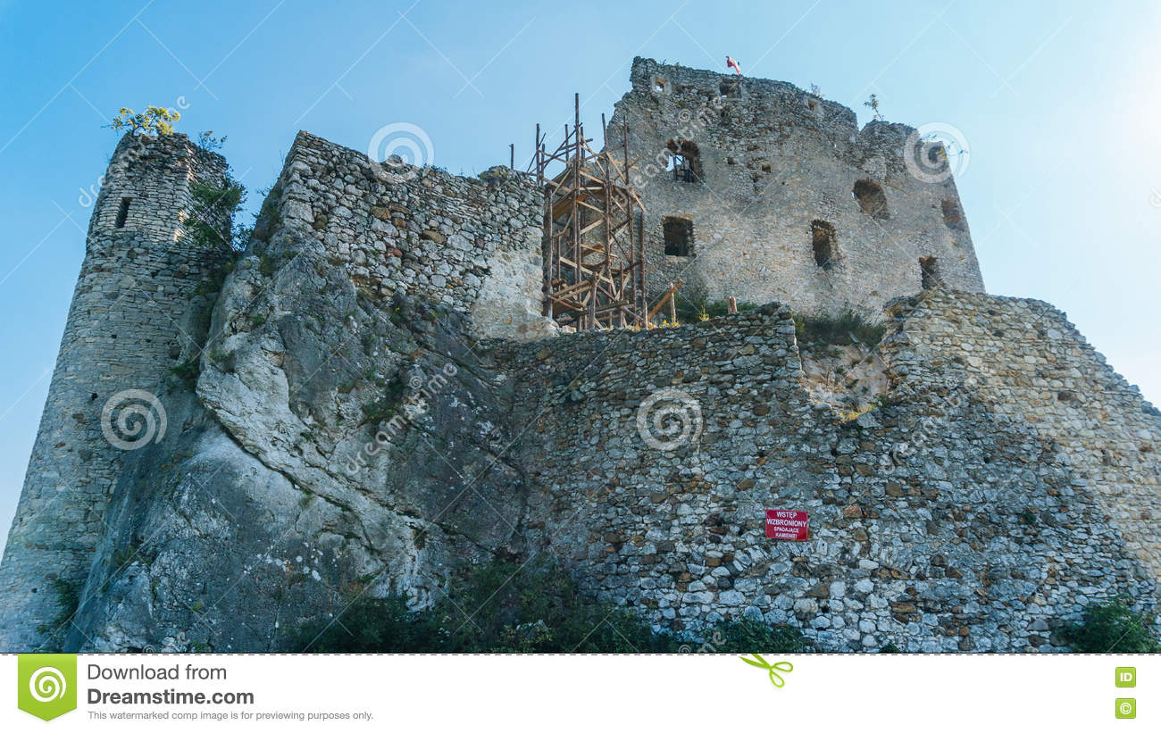 The Castle In Mirow Editorial Image Of Clouds