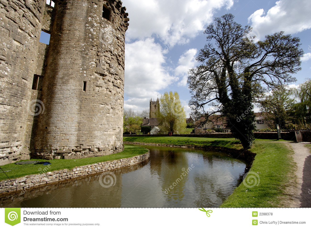 Castle And Moat Royalty Free Stock Photos Image 2288378