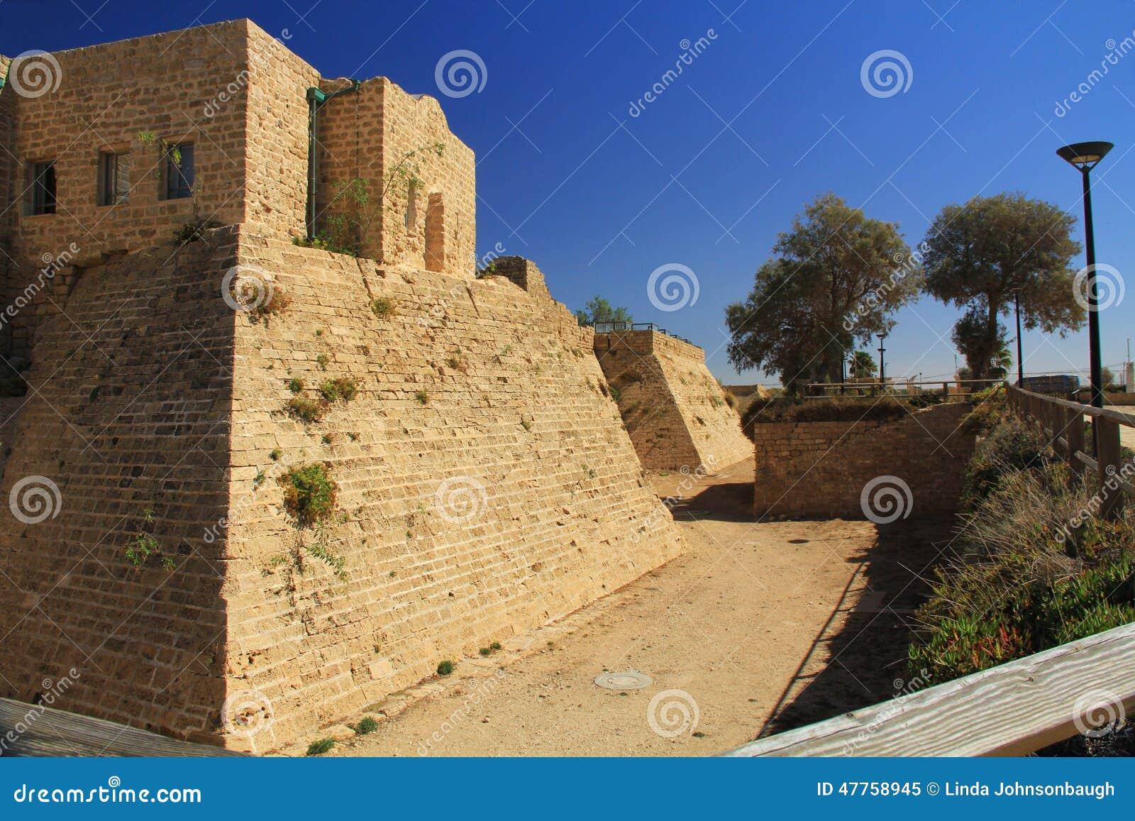 Castle Moat in Caesarea Maritima National Park