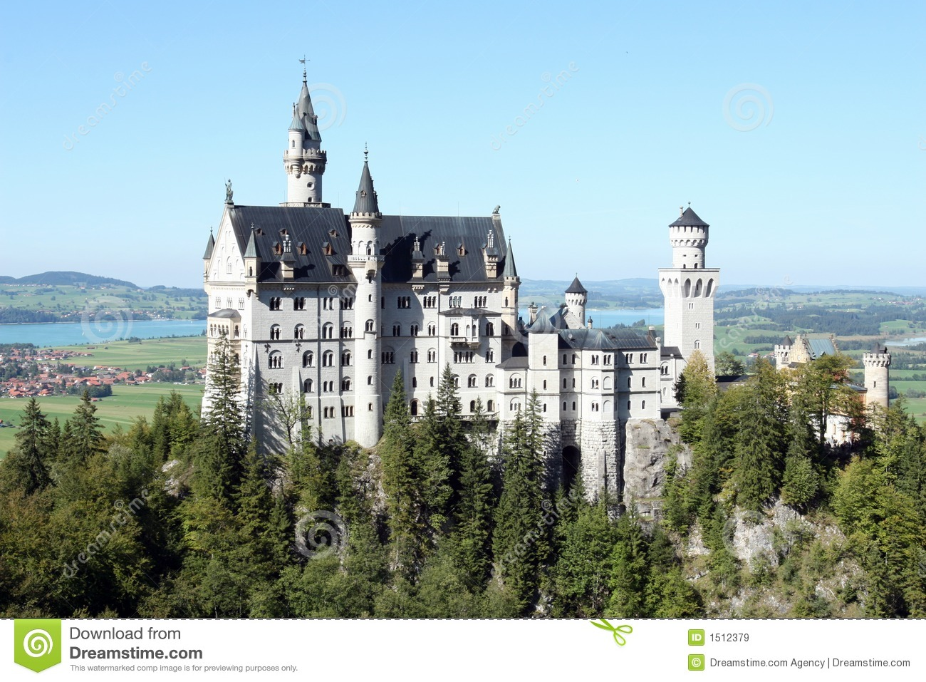 castle in munich stock image image of hilltop history