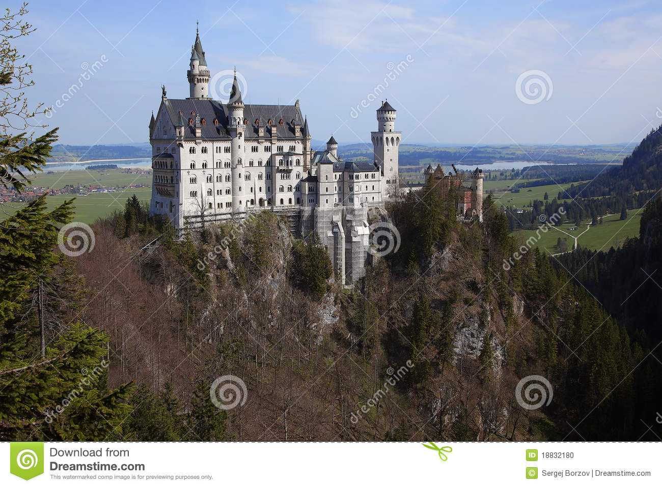 Castle Neuschwanstein Stock Photo Image 18832180