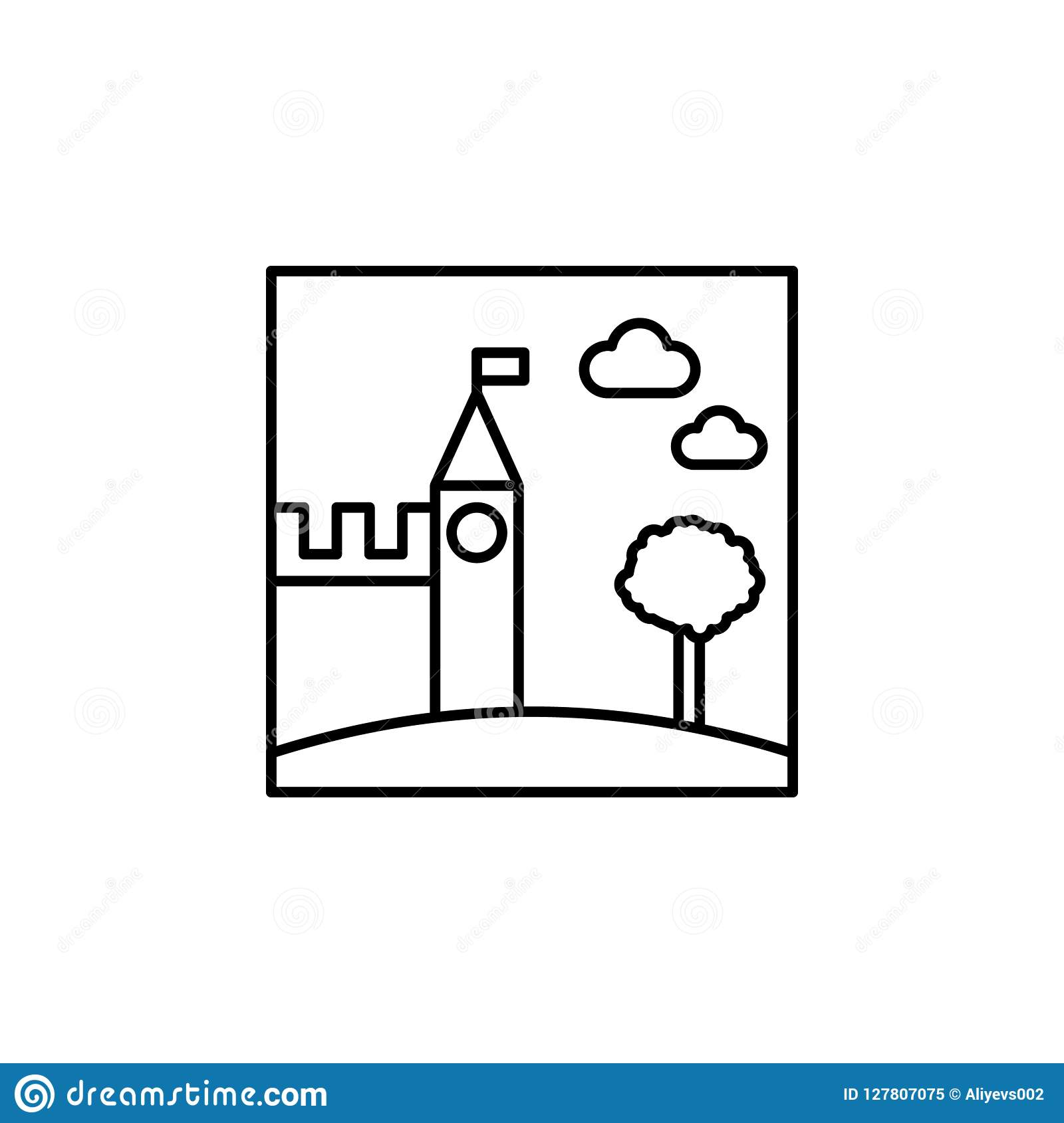 Castle Outline Icon Element Of Landscape Outline Icon For Mobile
