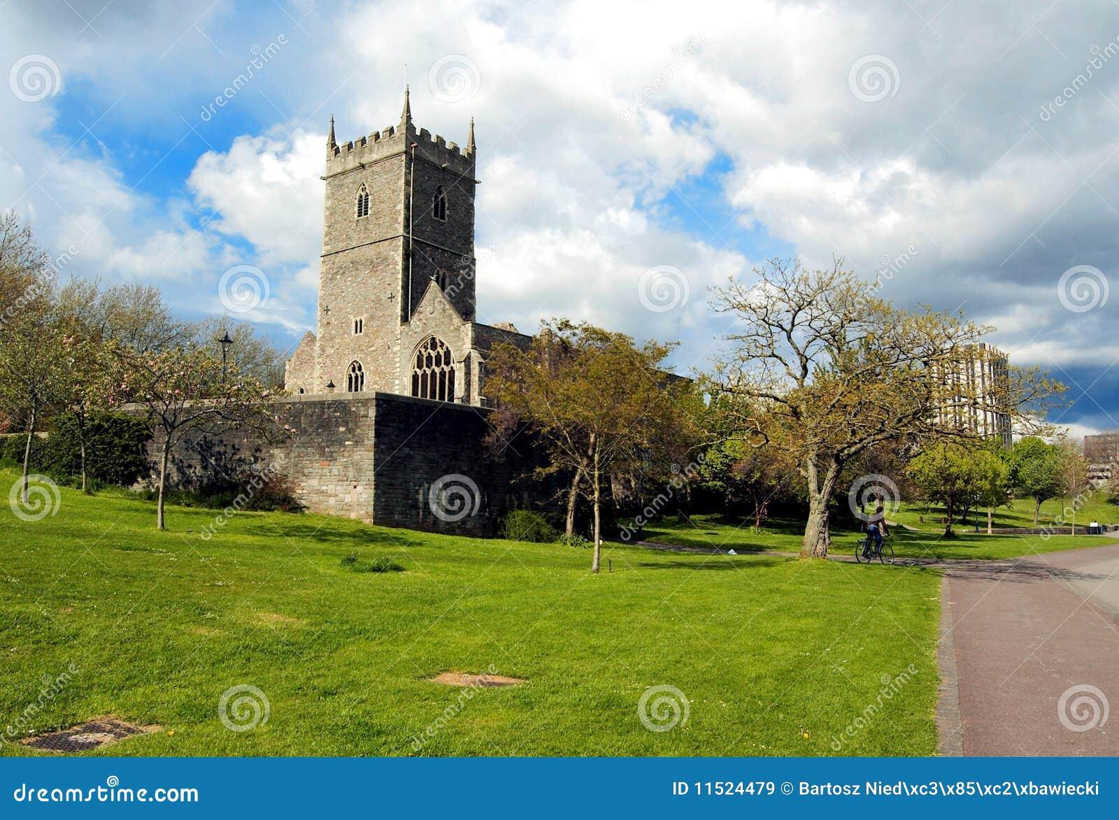 castle in park in bristol uk royalty free stock images. Black Bedroom Furniture Sets. Home Design Ideas