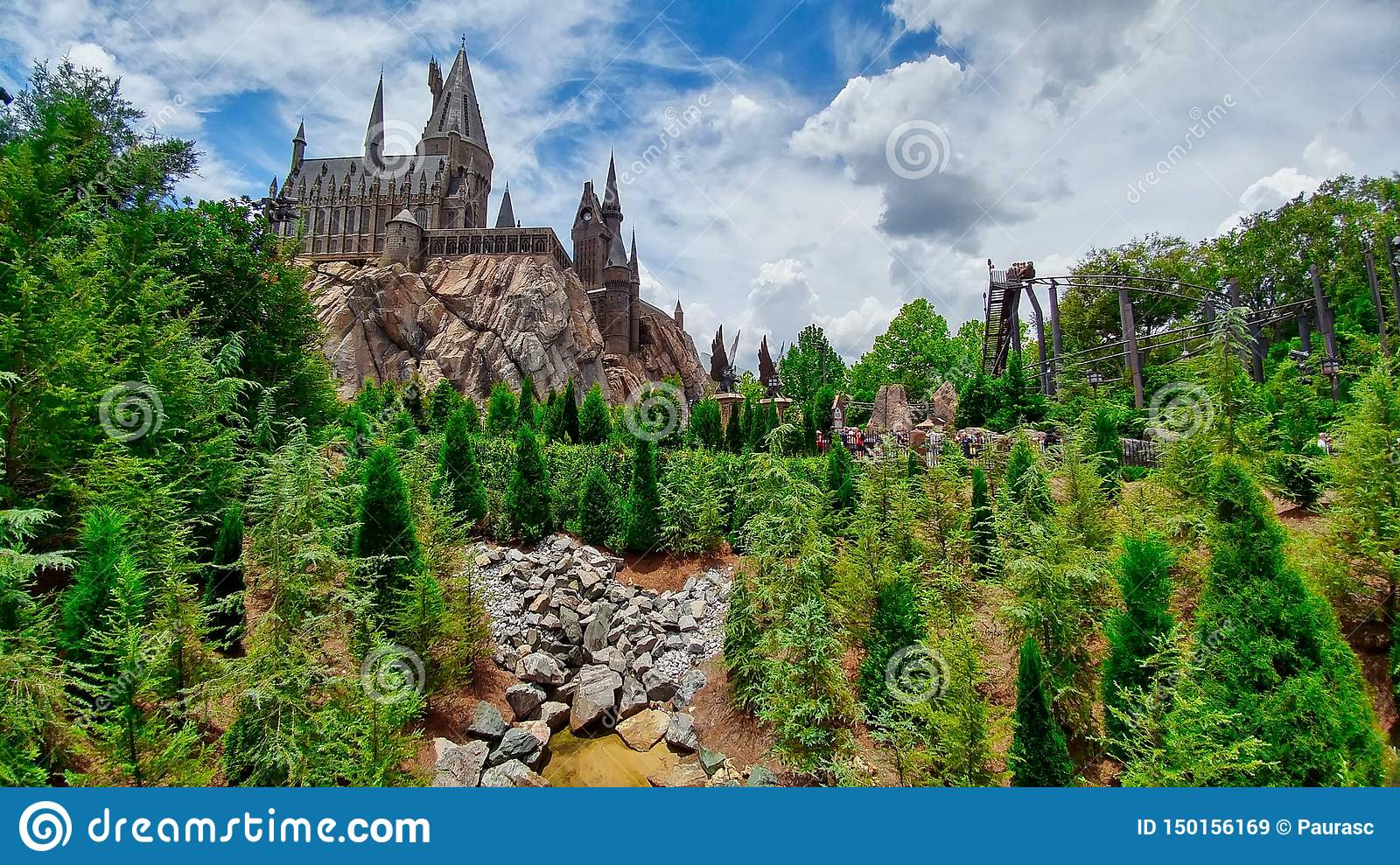 Castle pine trees roller coaster stones mountain