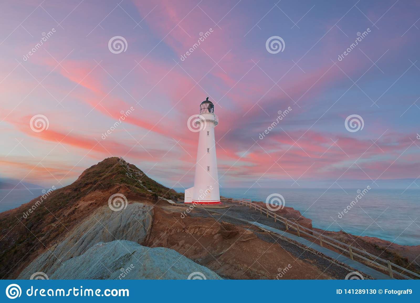 Castle Point Lighthouse Sunrise Wairarapa New Zealand In The