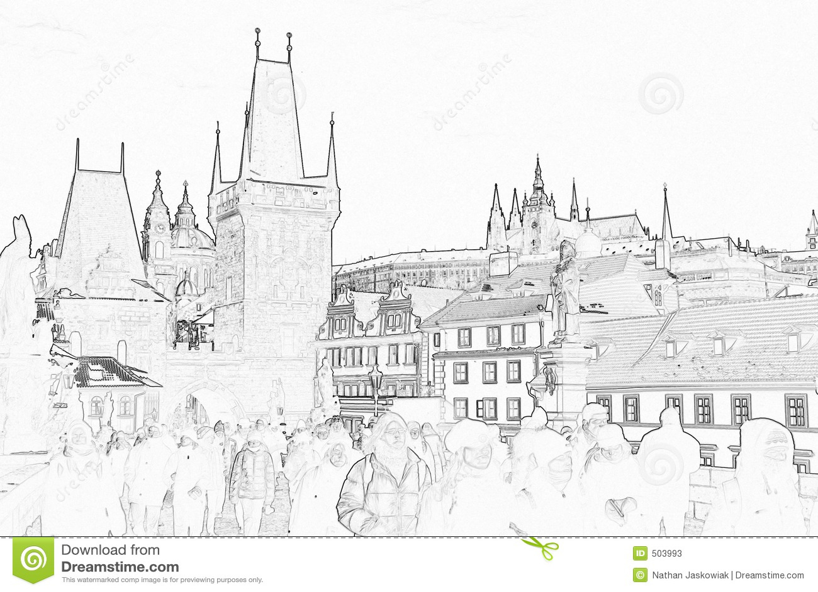 Castle prague sketch