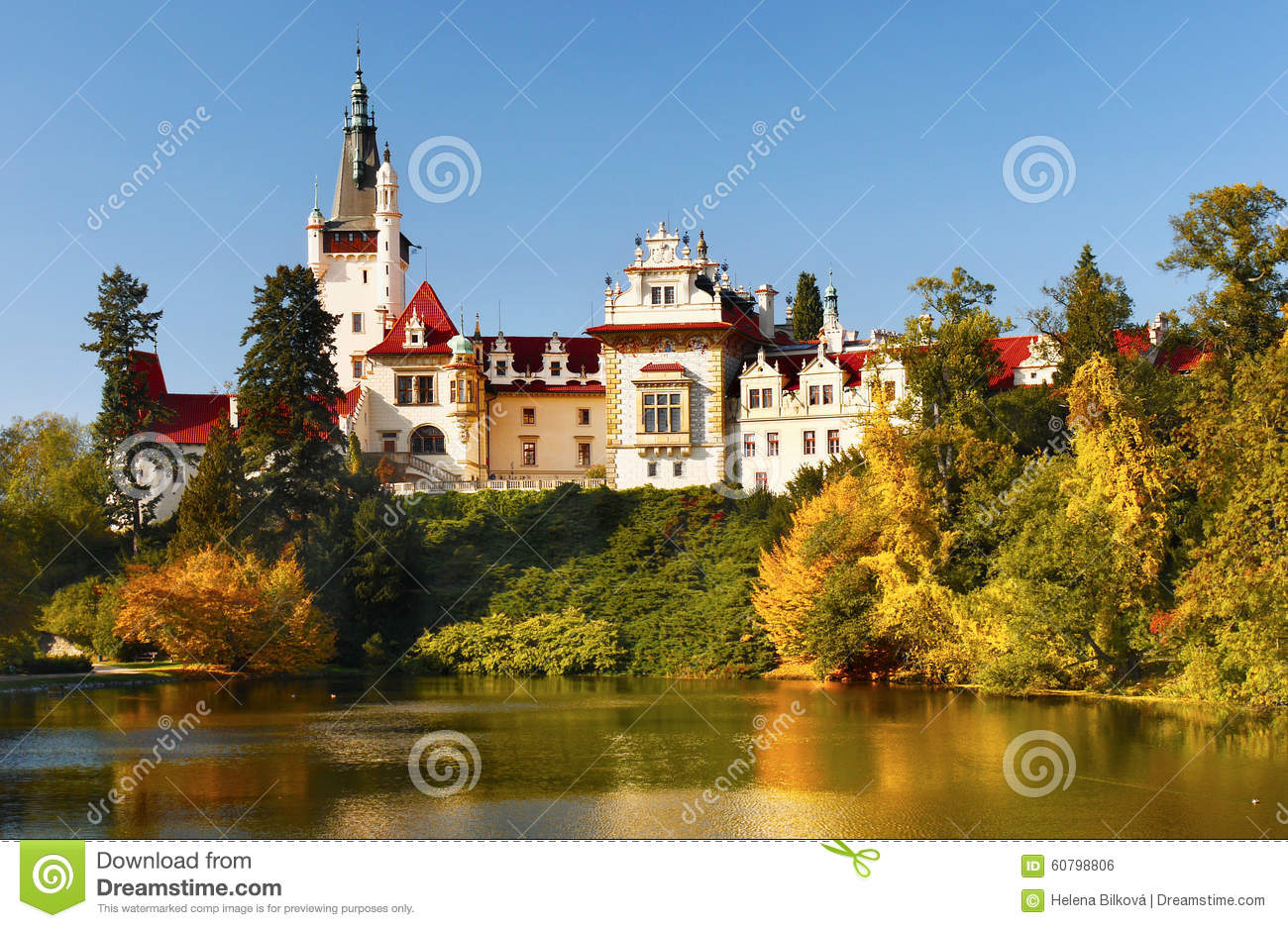 Castle pruhonice prague landmark bohemia stock photo for Where is prague near