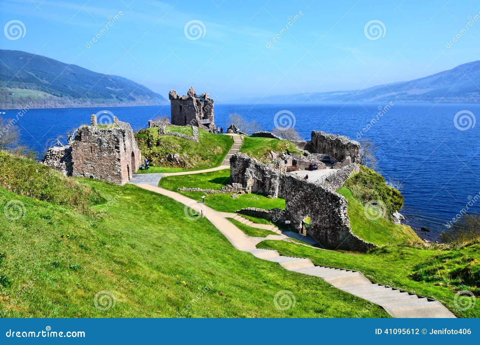 Castle ruins along Loch Ness