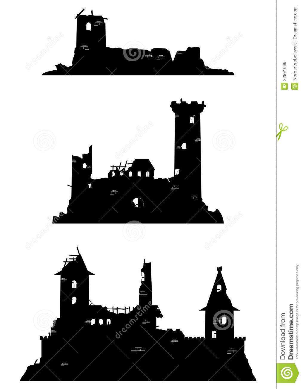 Castle Ruins Royalty Free Stock Image - Image: 32891666