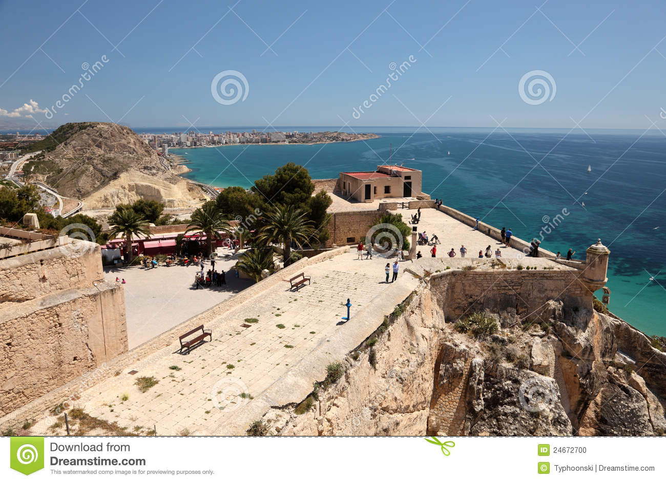 Castle santa barbara in alicante spain editorial image - Stock uno alicante ...