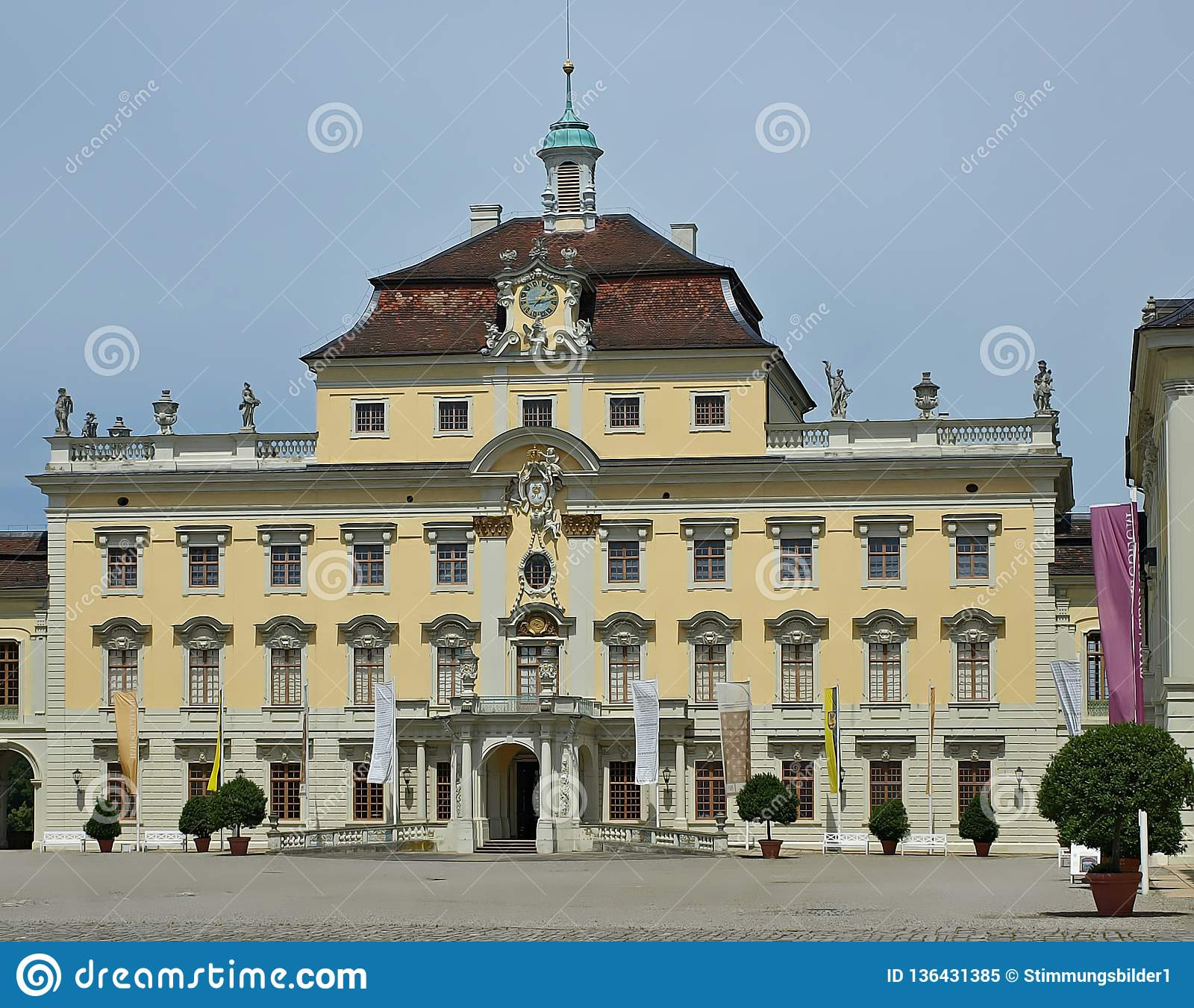 Castle of Schloss Ludwigsburg in Stuttgart in Germany