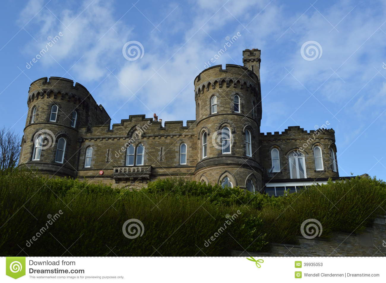 Castle Shaped Building In Scarborough England Stock Image