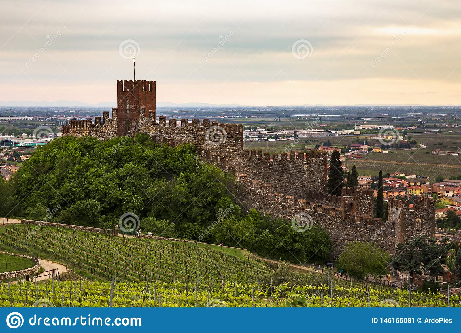 Castle of Soave, view from north side