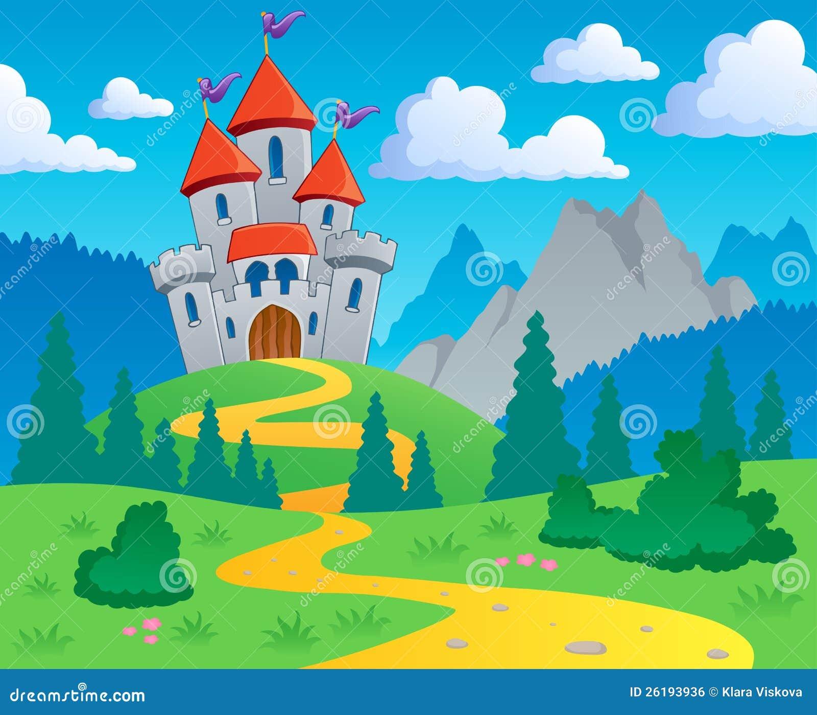 Castle Theme Landscape 1 Royalty Free Stock Image Image