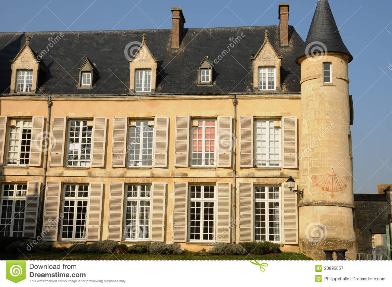 castle of themericourt in val d oise royalty free stock photography image 23895057