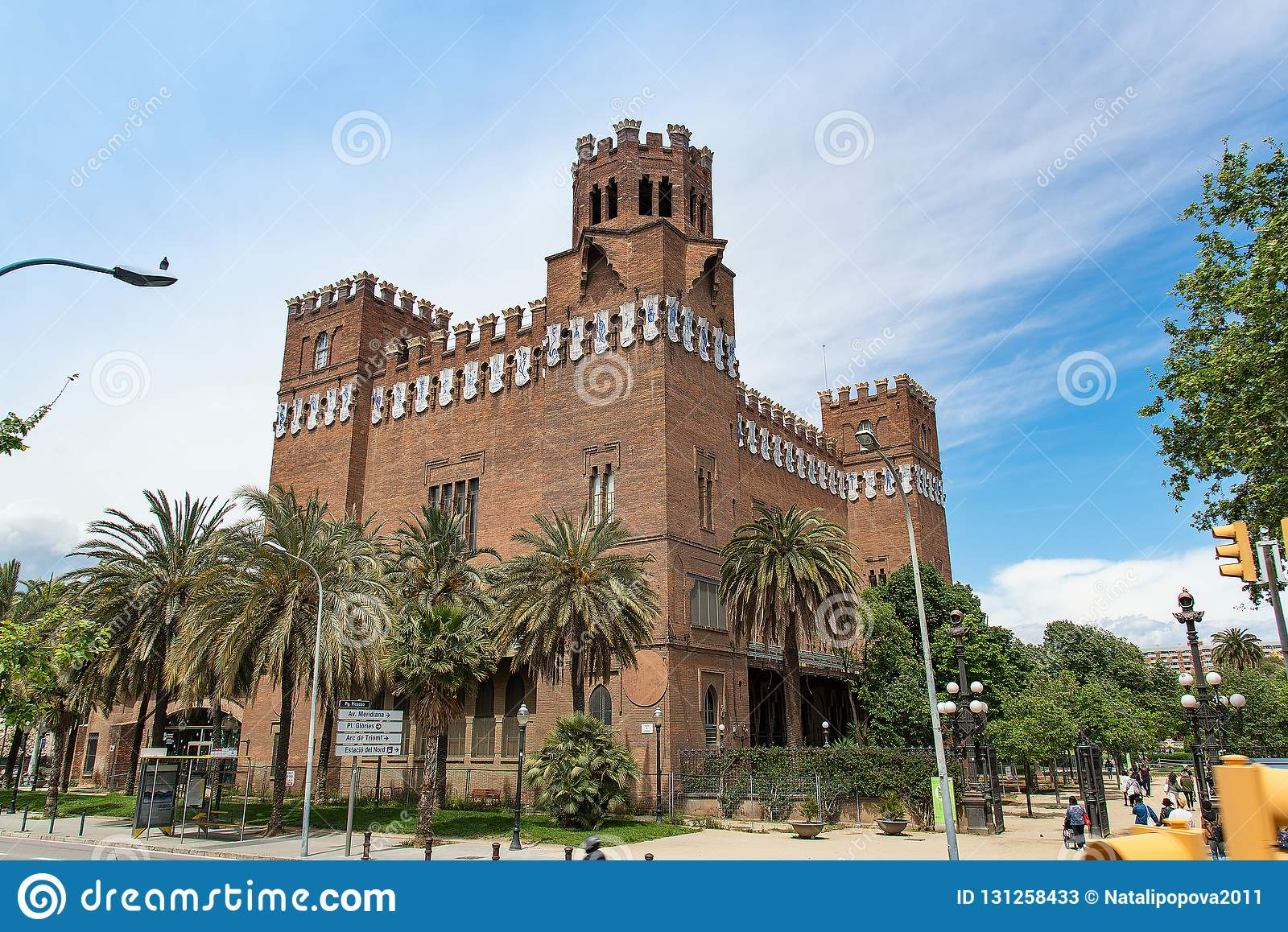 Castle of the Three Dragons in Barcelona, Spain -14 May 2018.