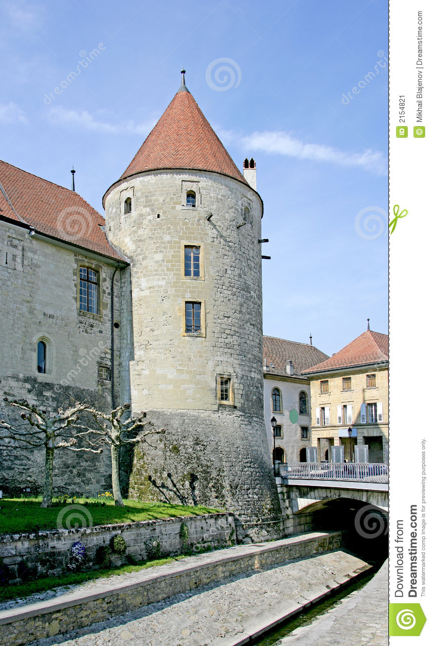 Castle tower 4 stock image image 2154821 for 3d architecture yverdon