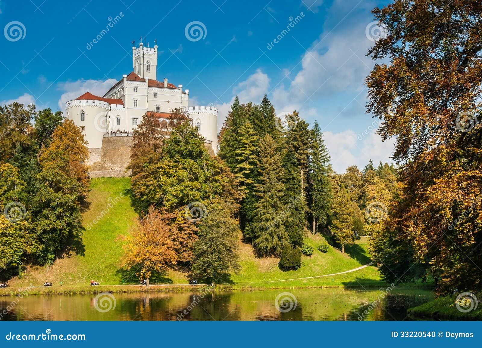 Castle Trakoscan στην Κροατία, που χτίζεται κατά το 1334 ως αριθ. μιας Κροατίας