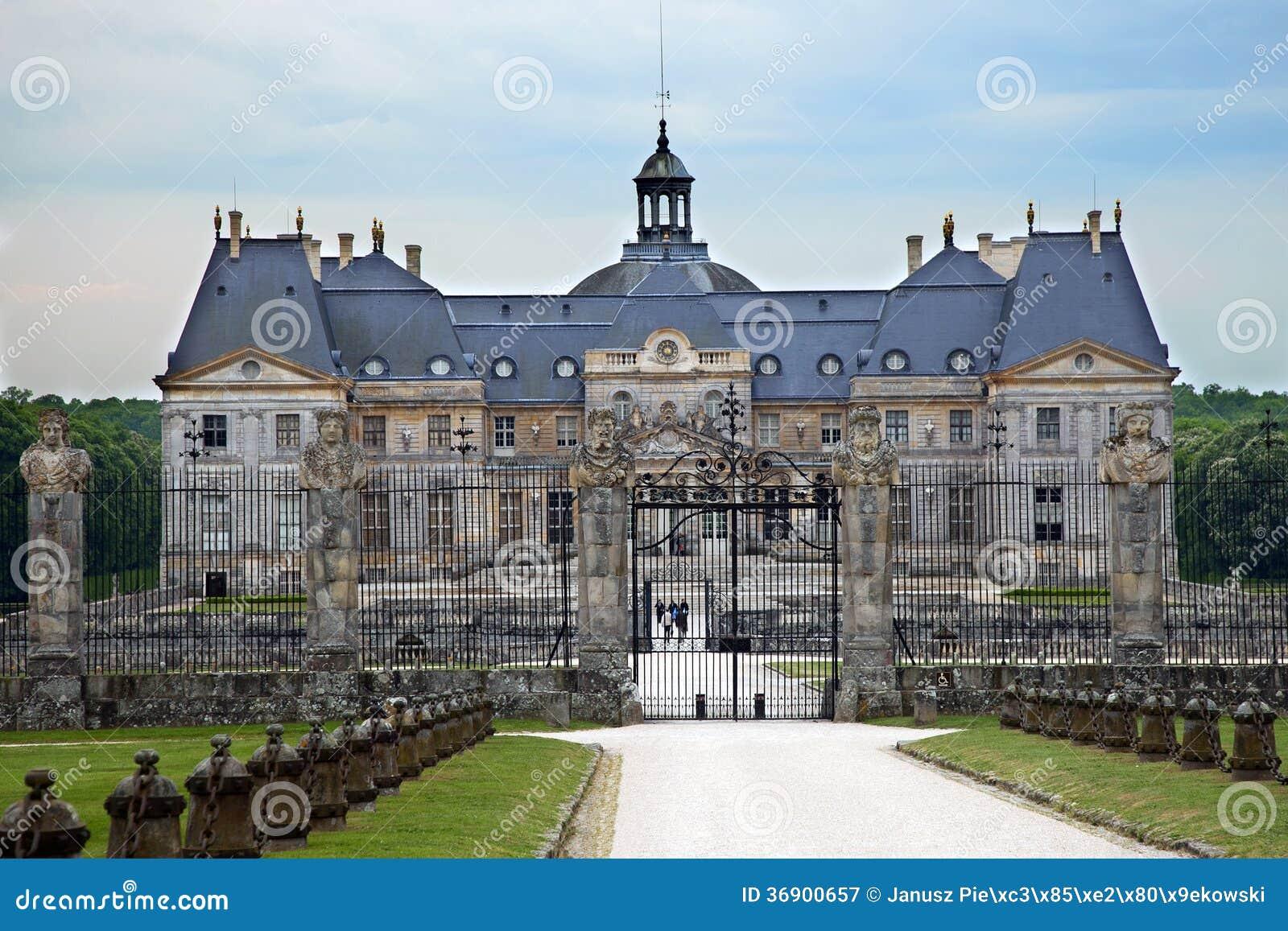 Castle Vaux le Vicomte, France.
