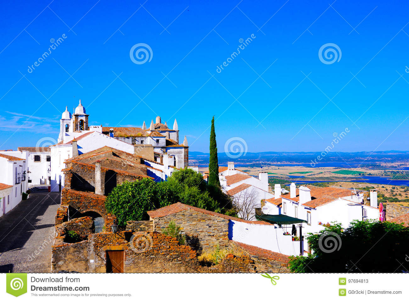 Castle View - Picturesque Village, Monsaraz - Alentejo Plain, South Portugal Landscape