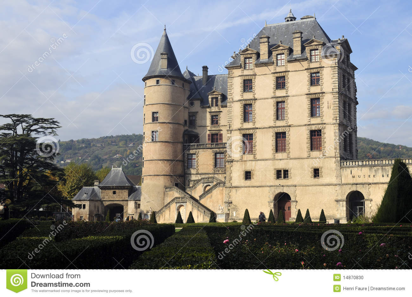 the castle of vizille near grenoble france stock photo image 14870830. Black Bedroom Furniture Sets. Home Design Ideas