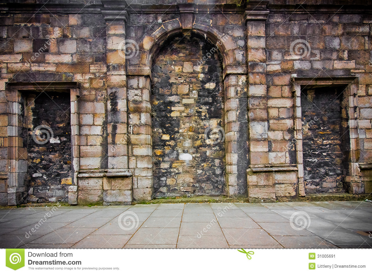Castle Wall Exterior Stock Image Image Of Grunge Europe