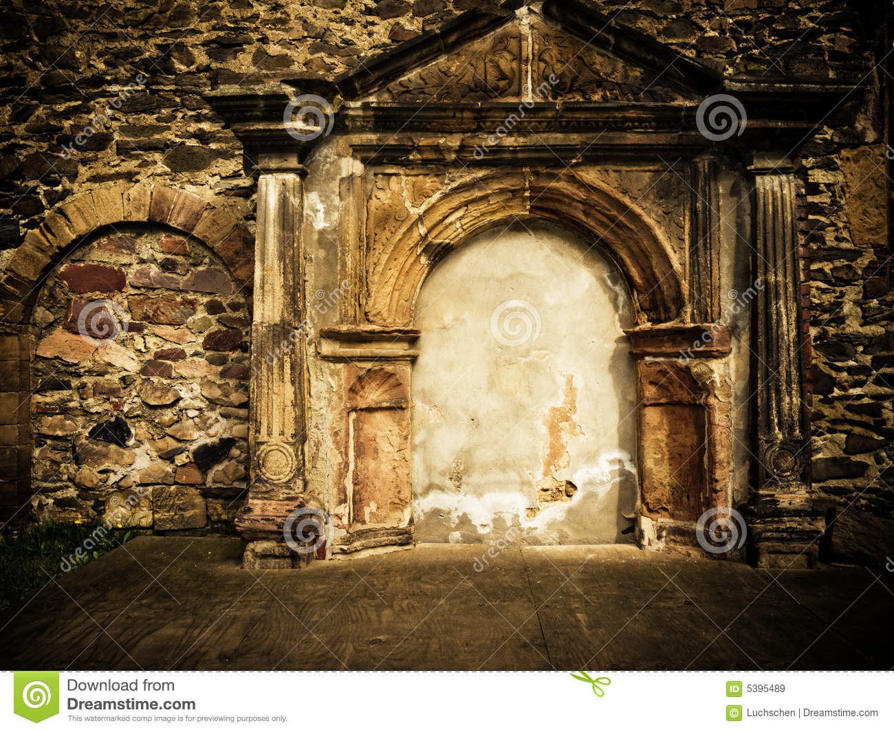 Castle Wall Ruins Royalty Free Stock Images Image 5395489