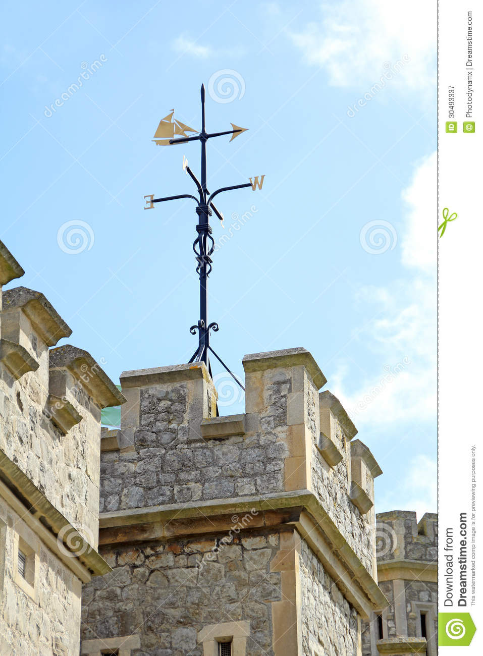 Castle weather vane