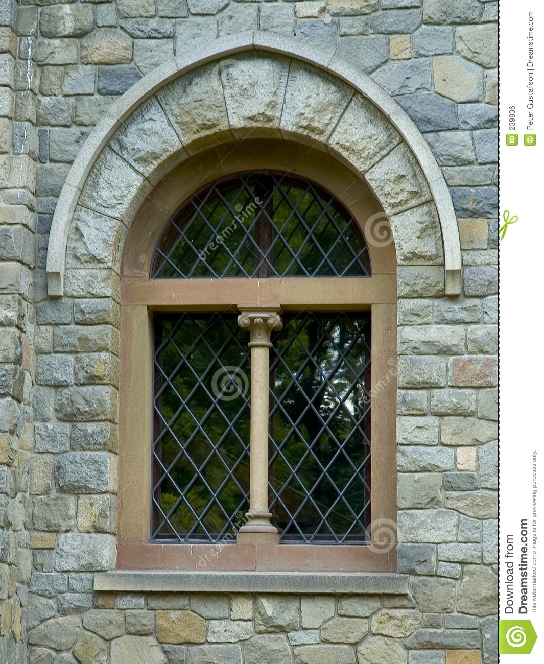 Castle window stock photo image of window reflect arch for Window style images