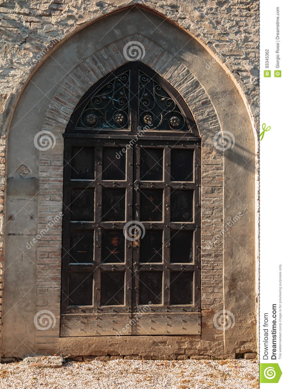 Download Castle Window In Gothic Architecture Europe Stock Photo